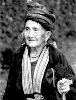 An elderly Hmong woman from Northern Laos